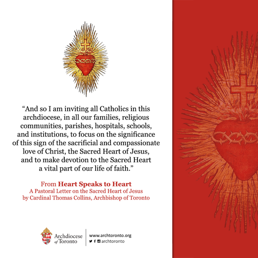 Cardinal's Pastoral Letter on Devotion to the Sacred Heart of Jesus