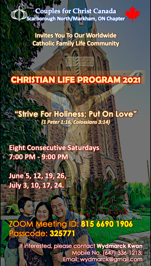 Couples for Christ CLP 2021 Poster image