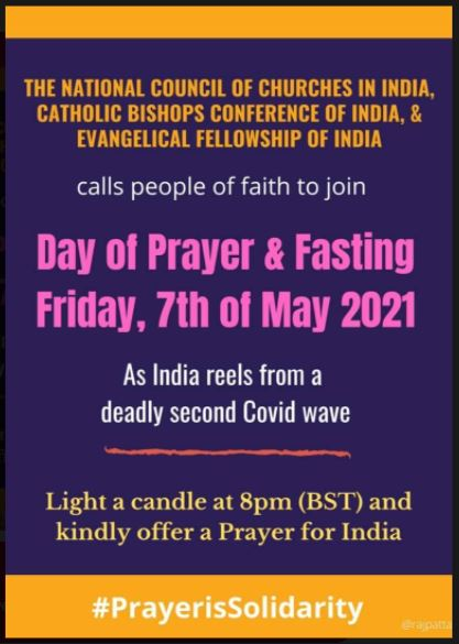day of prayer and fasting for india 2021